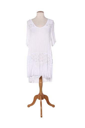 Robe mi-longue blanc ET SI.... pour femme