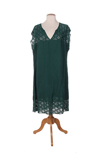 Robe mi-longue vert ET SI.... pour femme