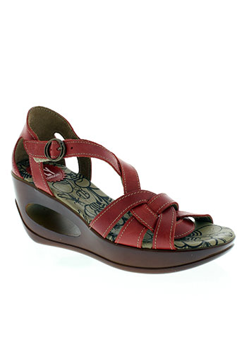 fly london chaussures femme de couleur rouge
