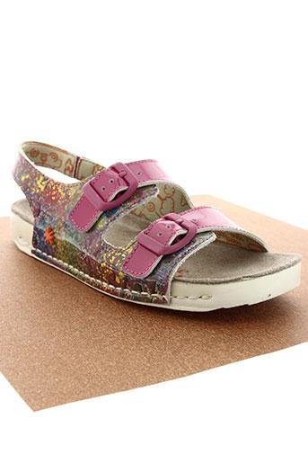 art chaussures fille de couleur rose