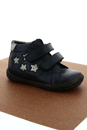 bopy chaussures fille de couleur bleu