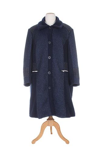 jean gabriel manteaux femme de couleur bleu