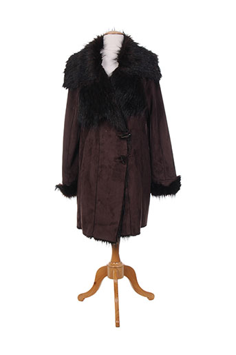 derhy manteaux femme de couleur marron