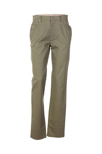 lucchini pantalons femme de couleur vert