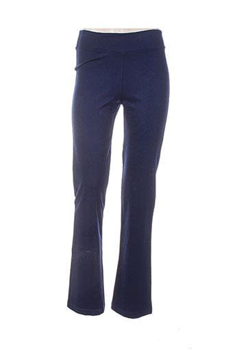 bleu d'azur pantalons femme de couleur bleu