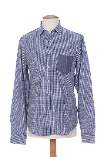 izac chemises homme de couleur bleu