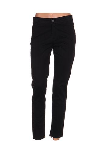 cowest pantalons femme de couleur noir