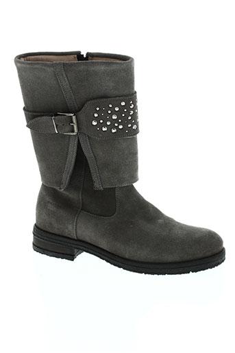 ninette en fleur chaussures fille de couleur gris