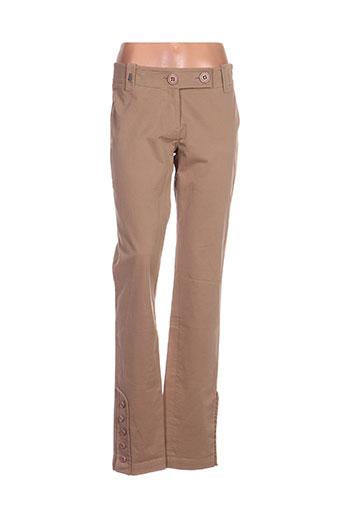 airfield pantalons femme de couleur beige