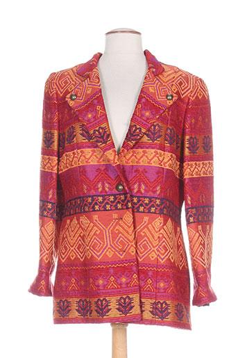 Veste chic / Blazer orange ALOUETTE pour femme