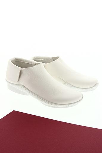 trippen chaussures femme de couleur blanc