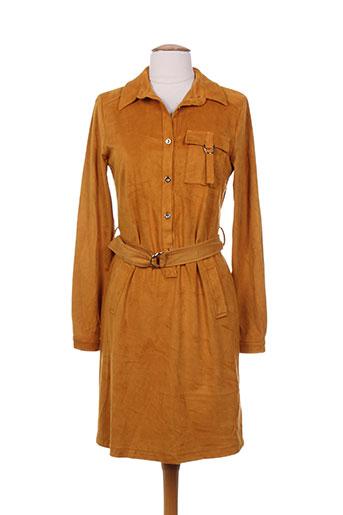 lavand robes femme de couleur jaune