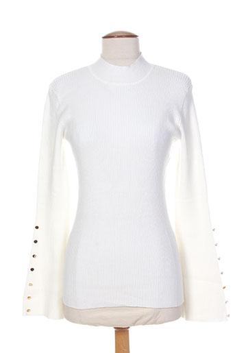 morgan pulls femme de couleur blanc