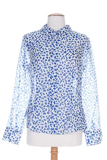 marella chemises femme de couleur bleu