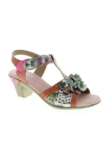 laura vita chaussures femme de couleur rose
