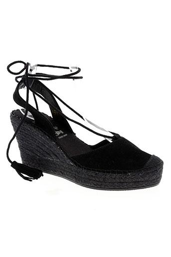 la maison de l'espadrille chaussures femme de couleur noir