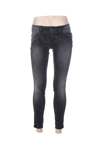 Jeans skinny gris BSB pour femme