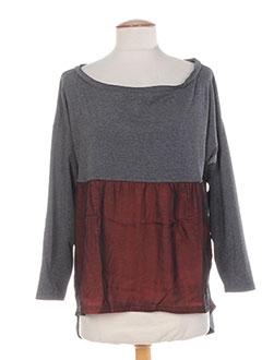 T-shirt manches longues gris COLEEN BOW pour femme