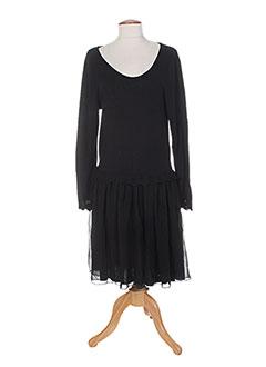 Robe mi-longue noir COLEEN BOW pour femme