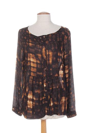 coleen bow chemises femme de couleur marron