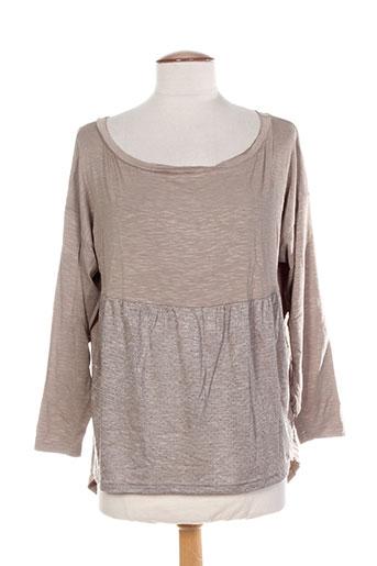 T-shirt manches longues beige COLEEN BOW pour femme
