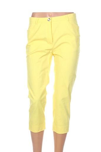 weinberg pantacourts femme de couleur jaune