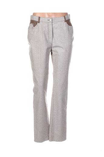 weinberg pantalons femme de couleur gris