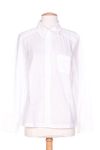 coleen bow chemises femme de couleur blanc