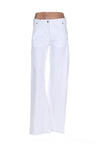 mybo pantalons femme de couleur blanc