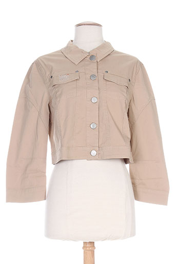 Veste casual beige MYBO pour femme