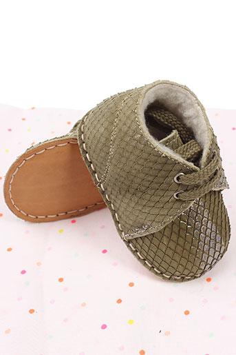 baby chick chaussures fille de couleur vert