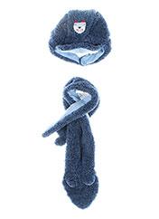 Bonnet bleu 3 POMMES pour garçon seconde vue