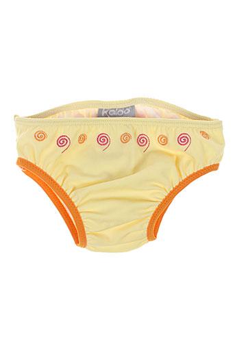 Bas de maillot de bain jaune KALOO pour fille
