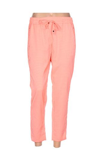 minako pantalons femme de couleur orange