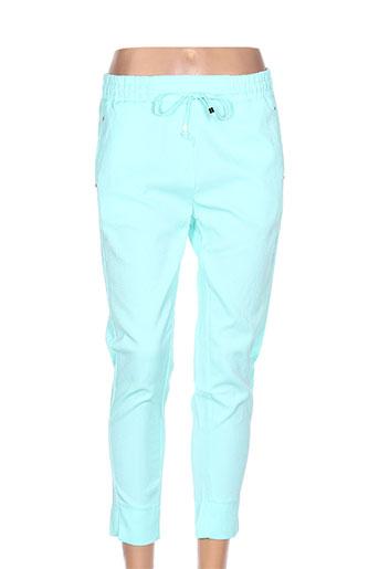 minako pantalons femme de couleur vert