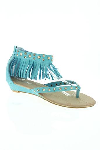 exquily chaussures femme de couleur bleu