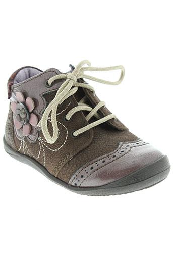 noël chaussures fille de couleur marron