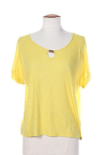les filles de neaux t-shirts femme de couleur jaune