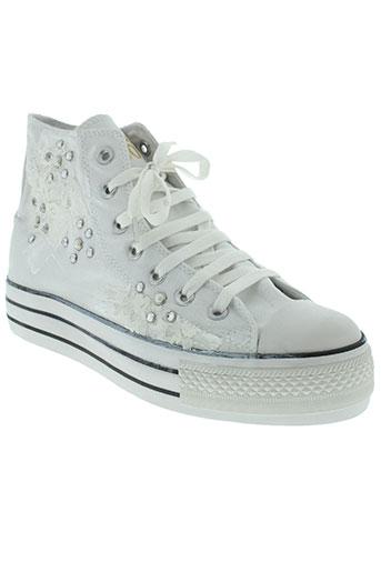 happiness shoes chaussures femme de couleur blanc
