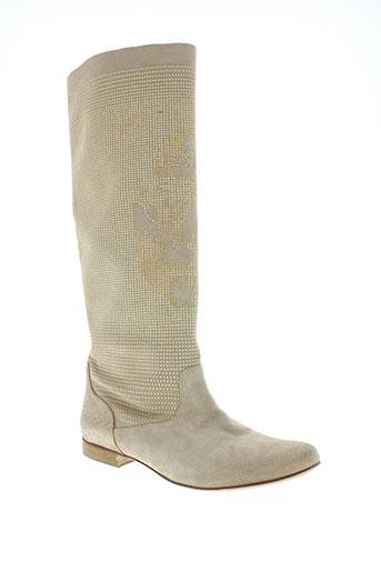 now chaussures femme de couleur beige