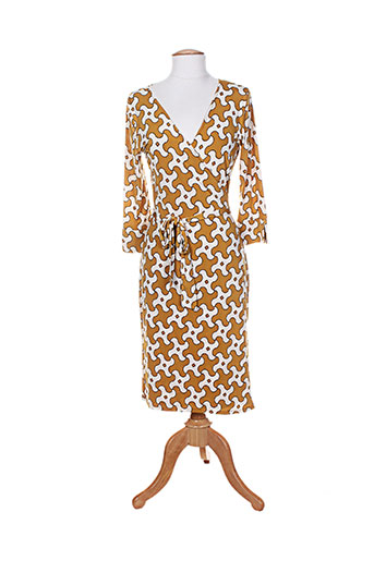 lonkel robes femme de couleur jaune