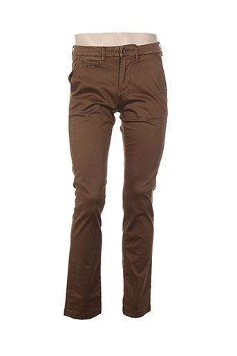 guess pantalons homme de couleur marron