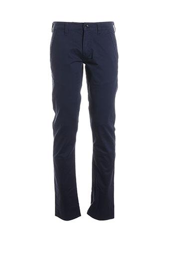 guess pantalons homme de couleur bleu