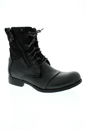 bunker chaussures homme de couleur noir