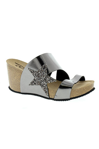 reqins chaussures femme de couleur gris