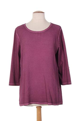 capuccino chemises femme de couleur violet