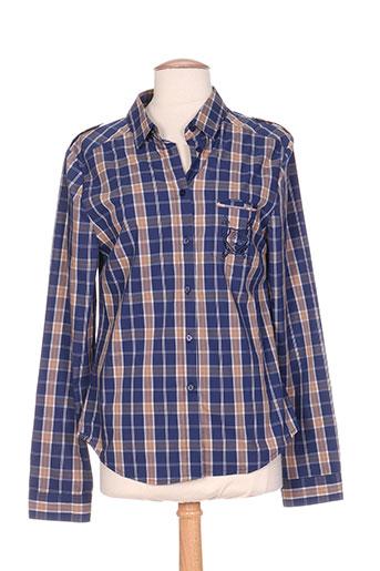 carla kops chemises femme de couleur bleu