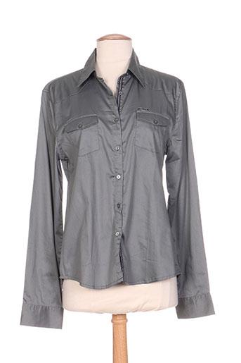 carla kops chemises femme de couleur gris