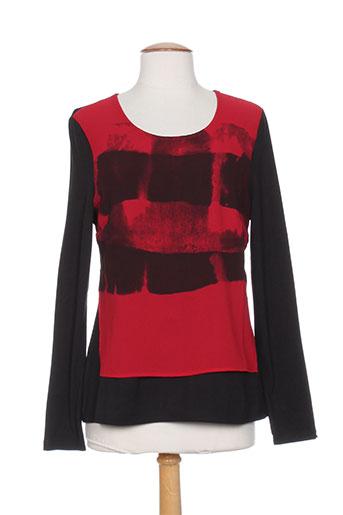 les filles de neaux t-shirts femme de couleur rouge