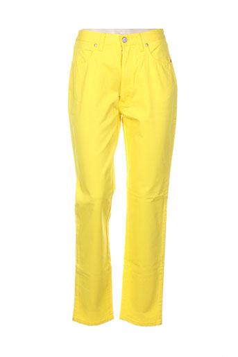 christian lacroix jeans femme de couleur jaune